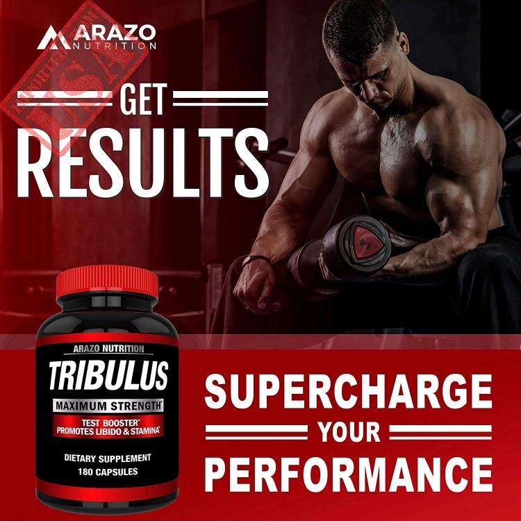 Tribulus Terrestris Extract Powder Testosterone Booster with Estrogen Blocker by Arazo