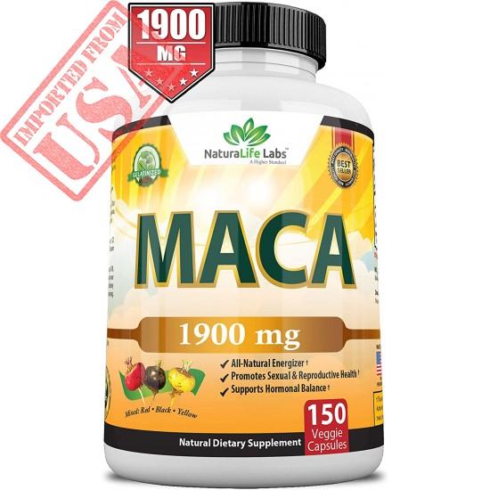 Organic Maca Root Black, Red, Yellow 150 Vegan Capsules Peruvian Maca Root Gelatinized 100% Pure Non-GMO