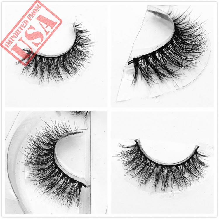 Mink 3d Lashes Dramatic Makeup Strip Eyelashes 100 Siberian Fur