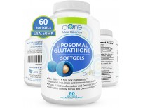 Liposomal Glutathione Softgels NO-Taste - Pure Reduced Setria® Glutathione 500mg - Liver Detox, Brain Function - China-Free Glutathione, Soy-Free Gluten-Free Dairy-Free Non-GMO - 60 Softgels