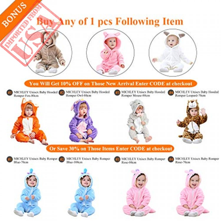188ee9e4bb59 michley baby girls boys romper bear style jumpsuit autumn   winter ...