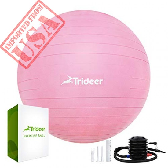 Trideer Exercise Ball (45-85cm) Extra Thick Yoga Ball Chair, Birthing Ball with Quick Pump sale in Pakistan