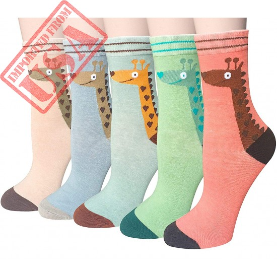 Shop 5 Pairs Cotton Socks for Women by Chalier Imported from USA