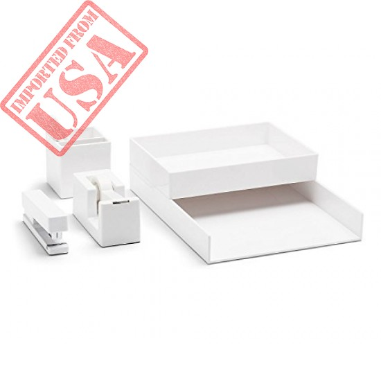 Durable White Desk Collection Set sale in Pakistan