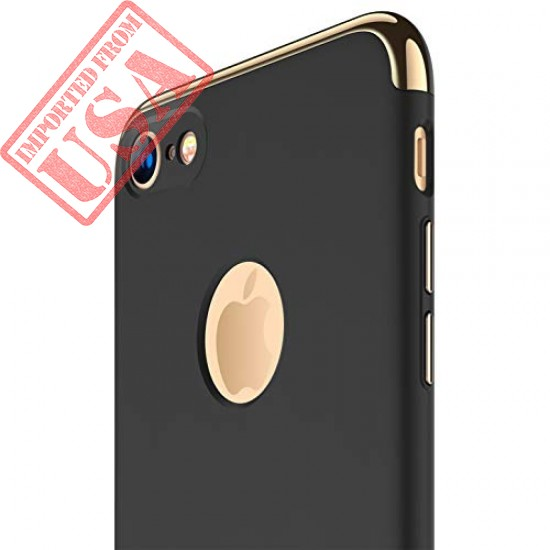 iPhone 7 Case, RANVOO 3 in 1 Hard Slim Anti-Scratch Protective Case with Electroplate Frame Matte Finish Case Cover for iPhone 7, [LOGO VISIBLE], Black