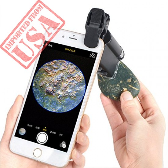 Original HaloVa Cellphone Magnifier, Universal 60X-100X Zoom Microscope for Mobile Phone online in Pakistan