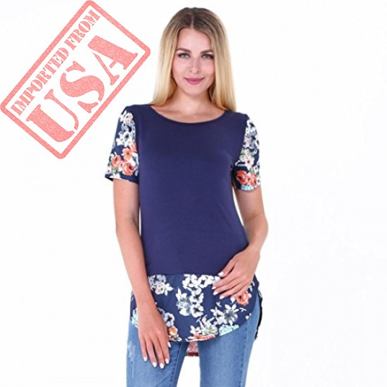 Buy Casual Short Sleeve Loose T-Shirt for Women Imported from USA