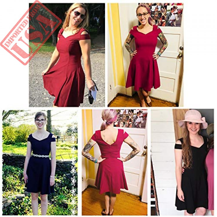 50da8d2224e Shop online Imported Cold Shoulder ladies Skater Dress in Pakistan