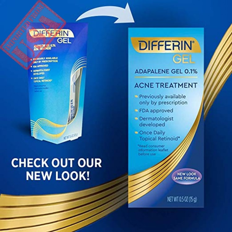 By Differin Adapalene Gel Acne Treatment Imported Form Usa Sale In