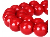 Buy RUBYCA Round Opaque Painted Druk Czech Glass Beads - Bulk Jewelry Making Supplies Strand in Pakistan