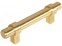 10 Pack - Cosmas 161-3BB Brushed Brass Euro Style Cabinet Bar Handle Pull - 3