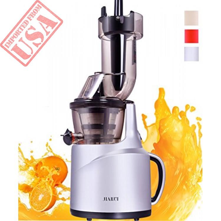 Heavy Duty Whole Slow Juicer Extra Wide Feed Chute Masticating Juice Extractor