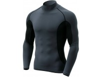 CQR Men's Mock Long-Sleeve Mesh-Side Compression Cool Baselayer Top online in Pakistan