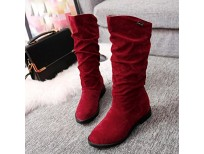 Buy online Imported winter Mid high Boots for women in Pakistan