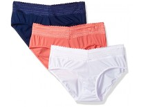 Warner's Women's Blissful Benefits No Muffin Top 3 Pack Lace Hipster Panties sale in Pakistan