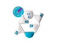 Fat Brain Toys FA163-1 Wendegreifling Bear Cream White and Light Blue