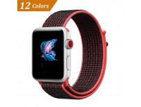 Nylon Sport Loop with Hook and Loop Fastener Adjustable Closure Wrist Strap Replacment Band for iWatch Series 1/2/3, 42mm by QIENGO now in Pakistan