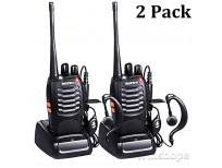 Baofeng BF-888s Walkie Talkies Long Range Radios With Earpiece Mic Vhf/UHF Radios 5W Two Way Radio Handheld 2 Way Radio Ham Transceiver With Antenna Headsets Microphone