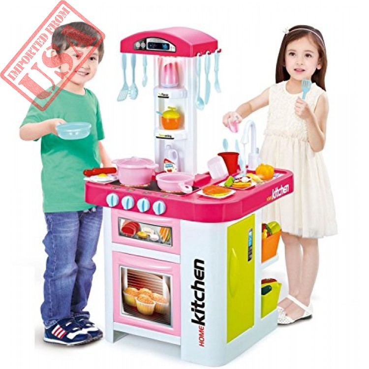 Lenoxx Childrens Toy Electronic Kitchen Set With Working Water Tap