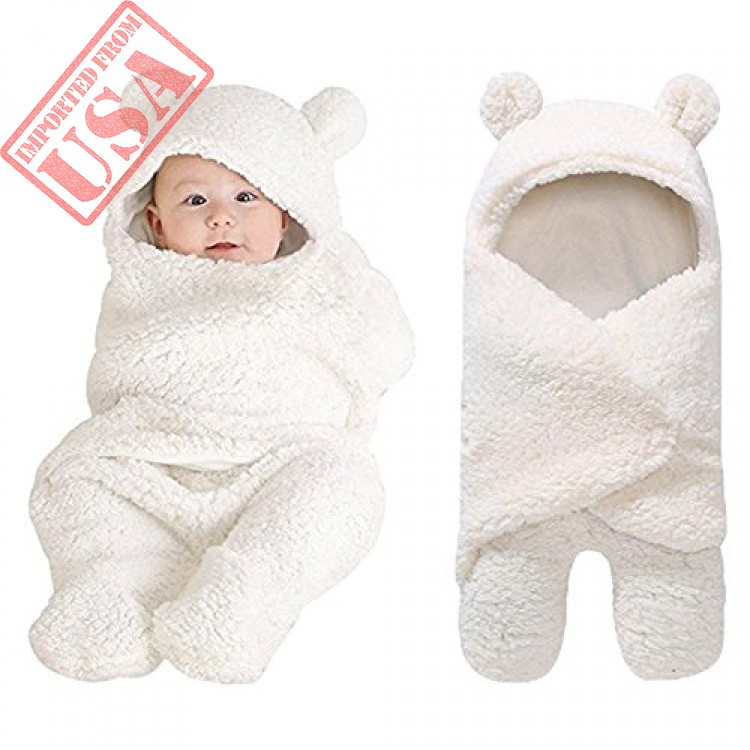 Newborn Baby Boys Girls Cute Cotton Plush Receiving Blanket Sleeping