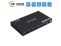 EZCOO 4K HDMI 2.0 Matrix 4K 60Hz 18Gbps HDR Dolby Vision HDCP 2.2, Unique HDMI Matrix Scaler Output 4K,HDMI Switcher Matrix Made in USA