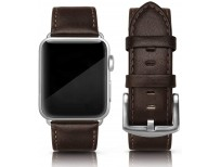 Original SWEES Leather Band Compatible for iWatch 42mm 44mm, Genuine Leather Vintage Wristband Compatible with iWatch Series 5, Series 4, Series 3, Series 2, Series 1, Online in Pakistan