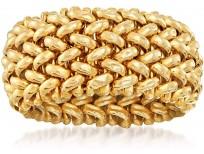 Ross-Simons Italian 14kt Yellow Gold Riso-Link Ring