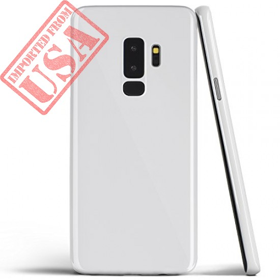 totallee Galaxy S9 Plus Case, Thinnest Cover Premium Ultra Thin Light Slim Minimal Anti-Scratch Protective - for Samsung Galaxy S9 Plus (Jet White)