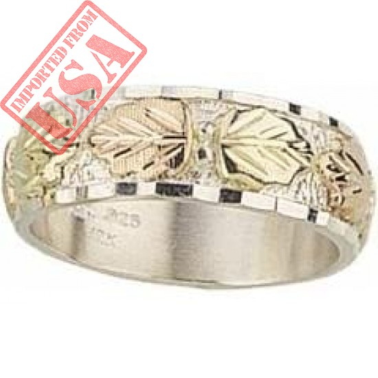 Made in the USA! Sterling-Silver Rose-gold Black Hills Gold Women's & Men's Wedding-Bands