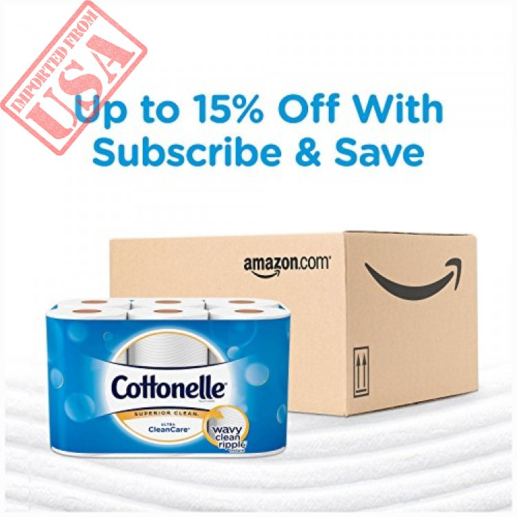 Cottonelle Ultra CleanCare Toilet Paper Strong Bath Tissue 36 Family Rolls+
