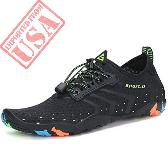 Lxso Women Men Water Shoes Quick Dry Barefoot Sports Aqua Durable Outsole Shoes for Swim Walking Yoga Beach Driving Boating