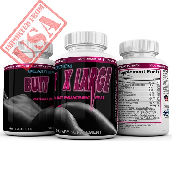 Butt X-Large Butt Enlargement, Booty Enhancement. Butt Enhancer Pills. Natural Bigger Glutes