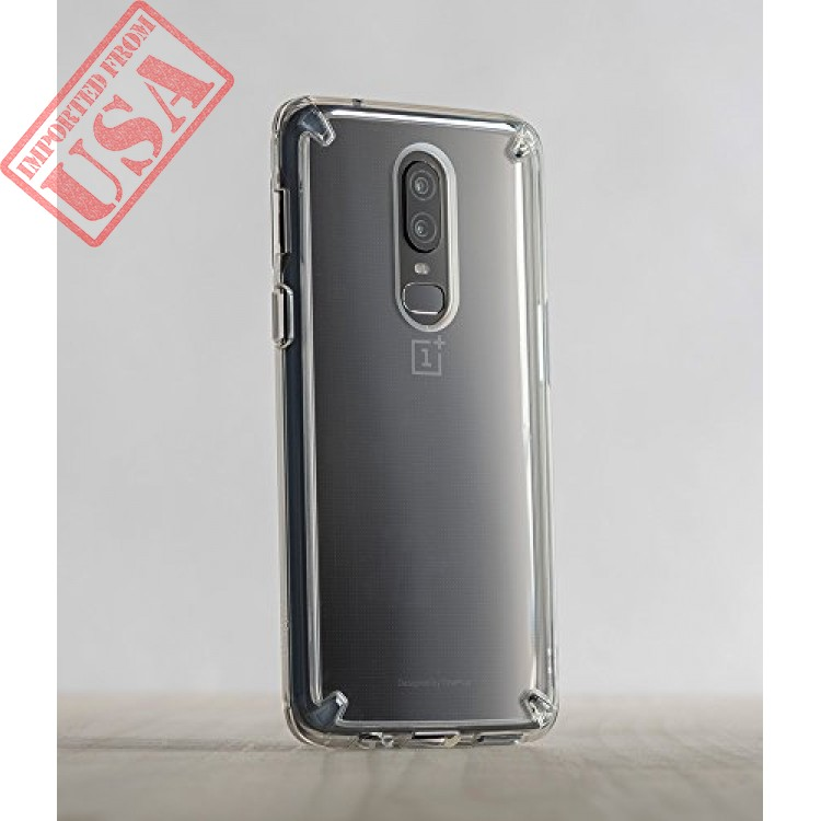 quality design 52baa 72a24 ringke [fusion] compatible with oneplus 6 case crystal clear pc back ...