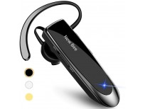 New bee Bluetooth Earpiece V5.0 Wireless Handsfree Headset with Microphone 24 Hrs Driving Headset 60 Days Standby Time for iPhone Android Samsung Laptop Trucker Driver (Black)