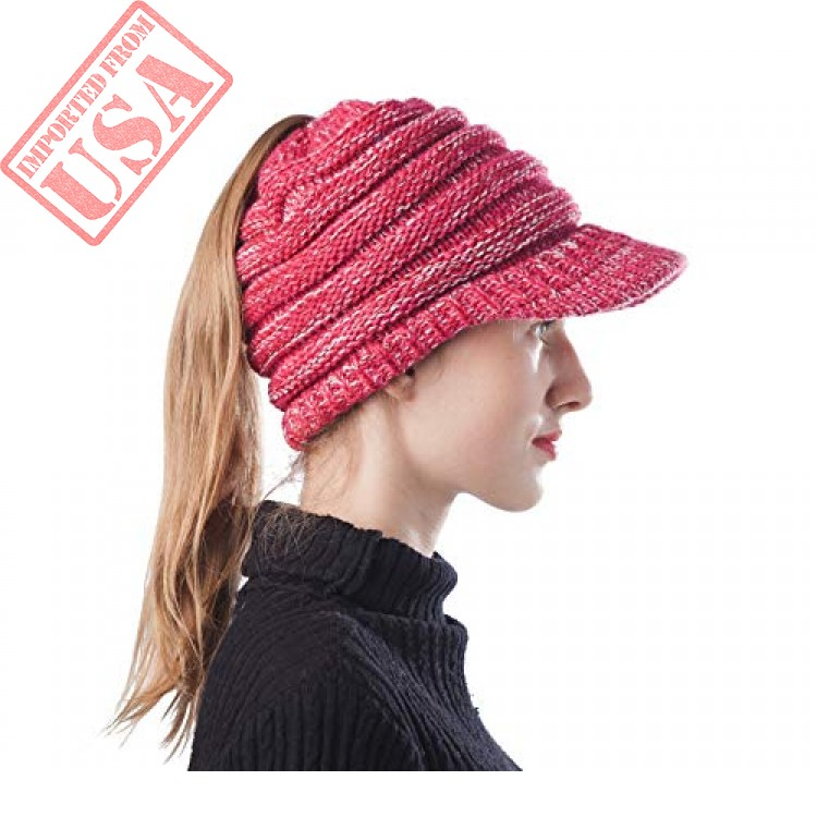 b34681249c34f4 shop scrub green girl soft high bun ponytail beanie hat imported from USA