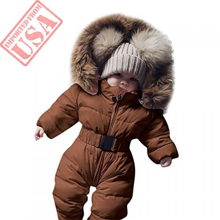 1336f85db vekdone kid baby romper jacket hooded jumpsuit warm thick coat ...