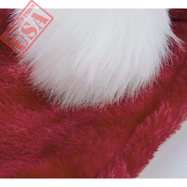 Extra Thicken Red and White Plush Santa Hat-Christmas Classic Hat for Child Red /& White