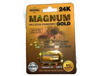 Magnum Gold 24k (1 Cap) Male Performance, Energy, Enhancement, and Endurance Bundle with Enhancing Booklet (2 Items)
