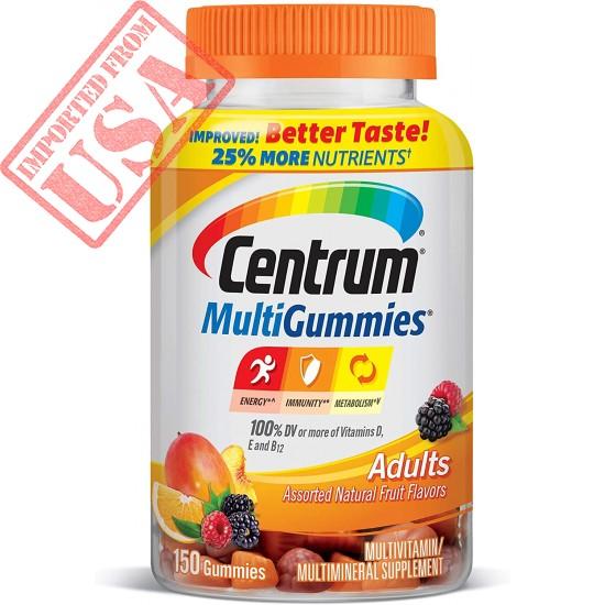 Centrum Multi Gummies for Adults | Multivitamin/Multimineral Gluten-Free Supplement Sale in Pakistan