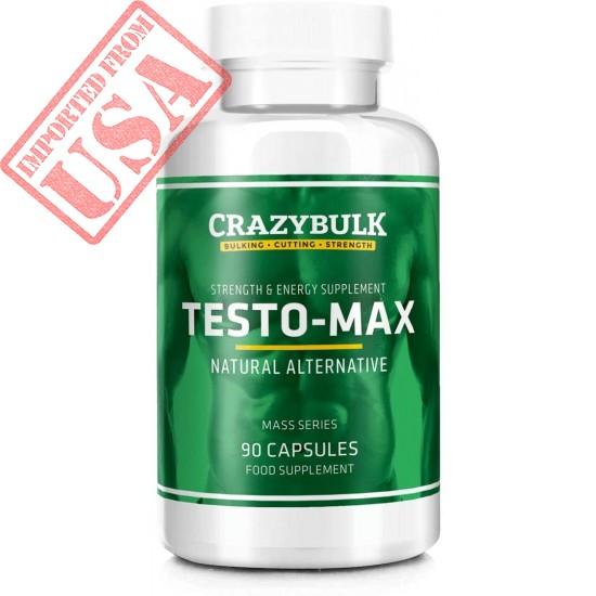 Testo-Max - Potenciador de testosterona natural con potentes ingredientes para ganancias musculares, resistencia, fuerza, energía, aumento de volumen y corte (120 cápsulas)