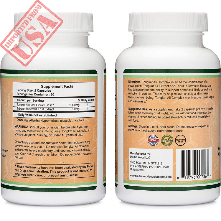 natural testosterone supplement and libido booster with 20mg tribulus terrestris by double wood