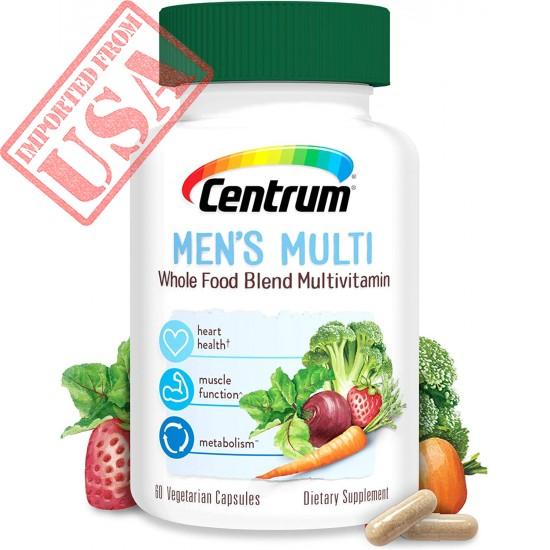 Buy Original Centrum Whole Food Multivitamin for Men, Gluten Free Dietary Supplement