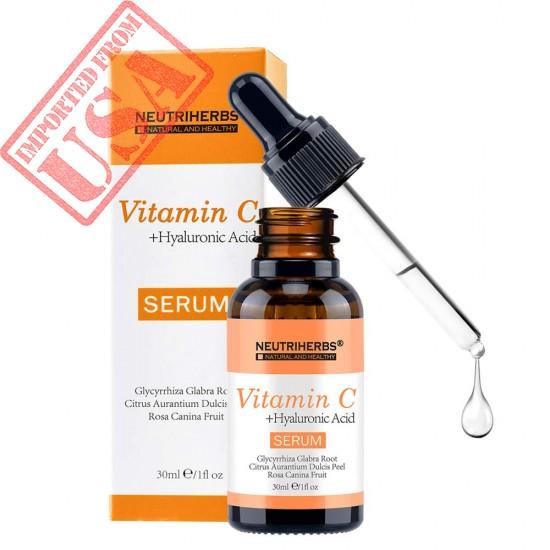 NEUTRIHERBS Vitamin C Serum for Face, 20% Vitamin C combined with Hyaluronic Acid Serum Best Skin Moisturizing Face Treatment Serum 30ml/pc=1 fl oz