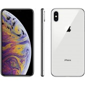 Apple iPhone XS, 64GB, Silver - Fully Unlocked (Renewed Premium)