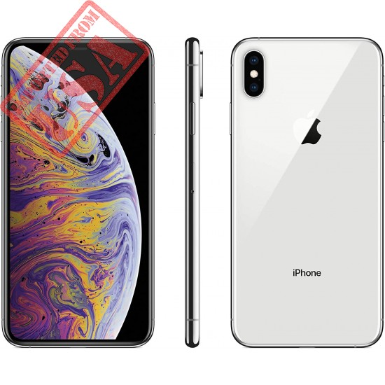 Apple iPhone XS, 64GB, Silver - Fully Unlocked (Renewed Premium)