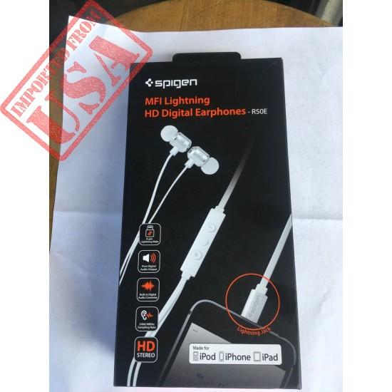 Spigen MFI Lightning HD Digital Earphones-r50e