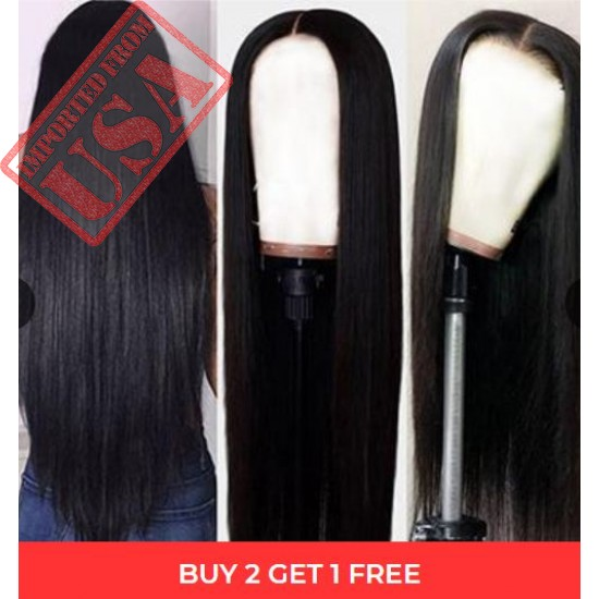 Extra long lace frontal wig, ladies fake scalp Brazil straight 360 lace frontal wig